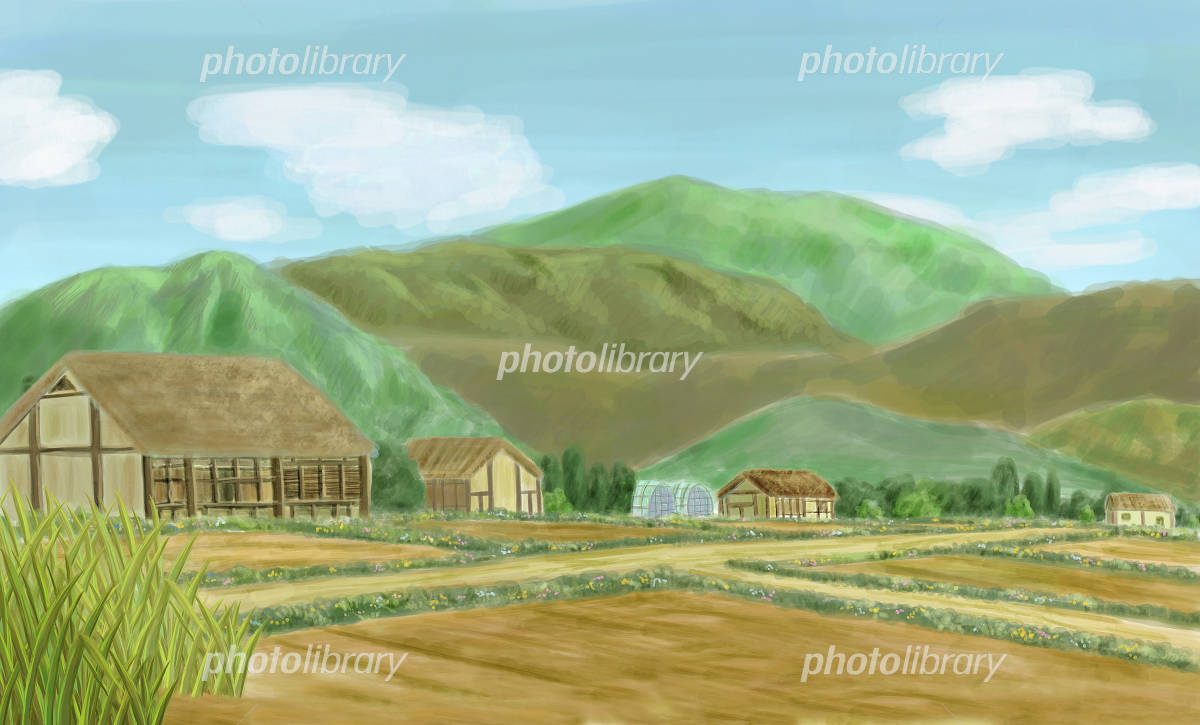 故郷の風景 イラスト素材 2582768 フォトライブラリー Photolibrary