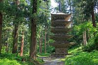 Haguro five-storied pagoda Stock photo [2588018] Yamagata