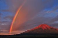 Rainbow and red Fuji Stock photo [2589622] Mt.