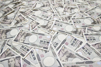 A large amount of 10,000 bill with depth Stock photo [2592108] 10,000