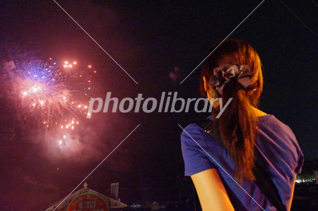 In fiscal 2013 Sagamiko fireworks Photo