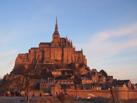 Mont Saint Michel to shine in the morning glow Stock photo [2680497] Le