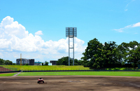 Grand maintenance before the baseball field. Stock photo [2683290] Sport