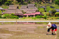 Original landscape Nantan Miyama thatched village group of Japan Stock photo [2686447] Japan