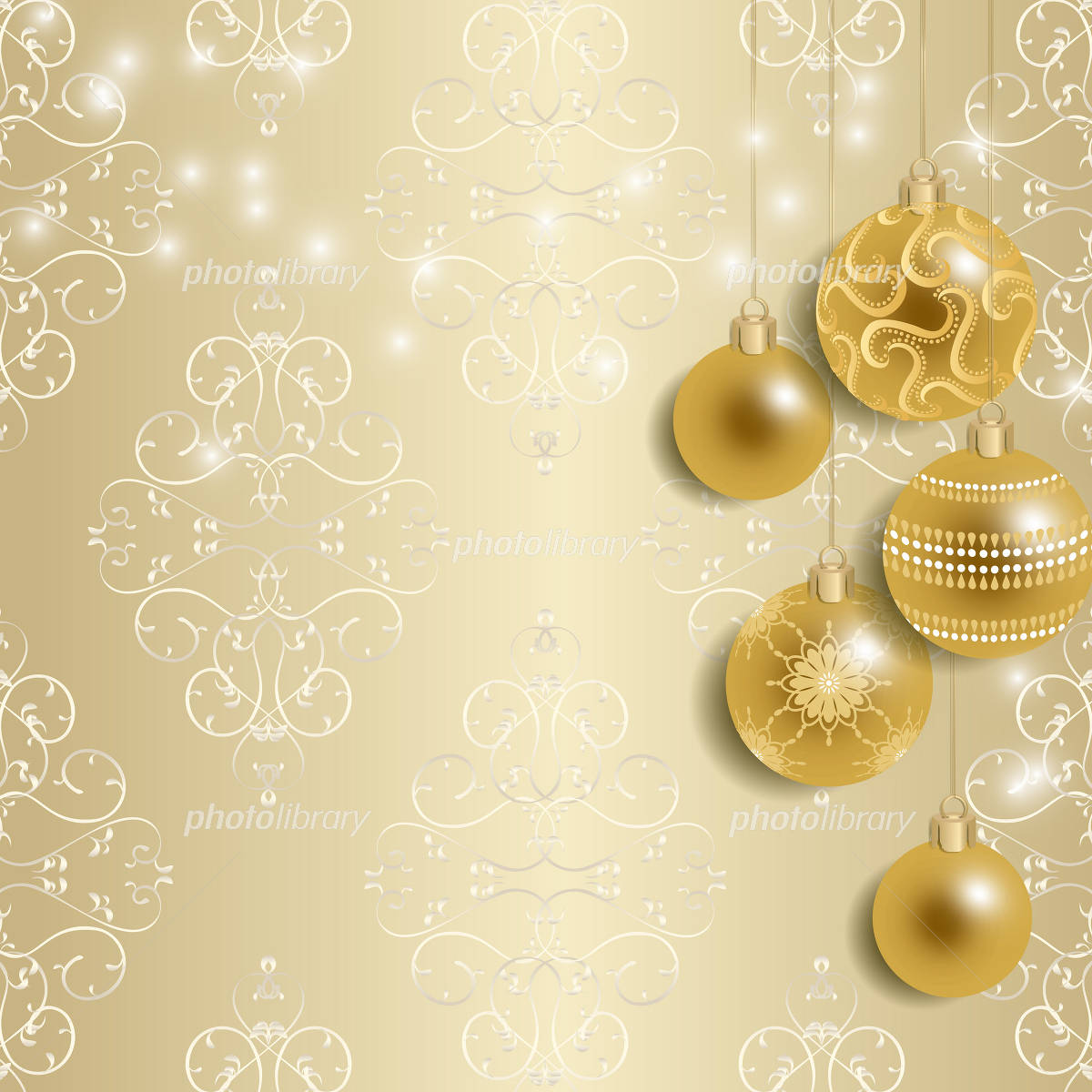 Champagne Gold Christmas イラスト素材