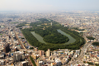 Aerial the Nintoku Mausoleum tumulus of Sakai City, Osaka Prefecture Stock photo [2764130] Nintoku