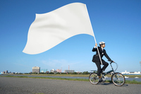 Men and flag composite photograph of running by bicycle Stock photo [2764589] Bike