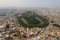 Aerial the Nintoku Mausoleum tumulus of Sakai City, Osaka Prefecture Stock photo [2765618] Nintoku