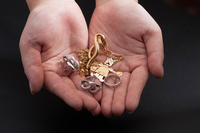 Precious metal that was placed in the hands Stock photo [2772799] Hand