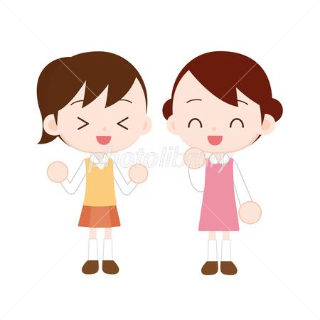 女の子二人 楽しく会話 イラスト素材 2852574 フォトライブラリー