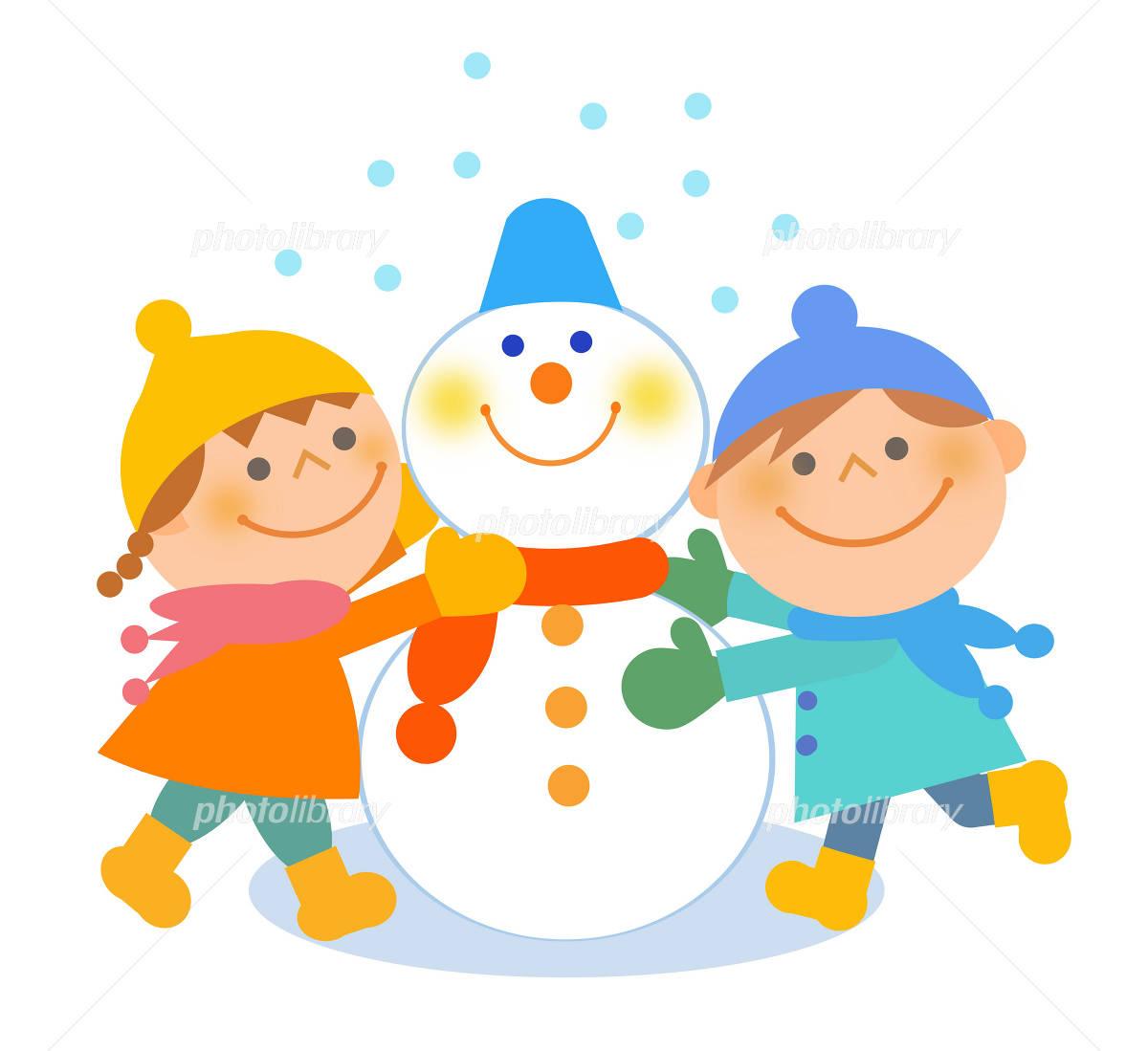 イラスト素材幼稚園町内会の冬のお知らせに使えるかわいい絵が大集合