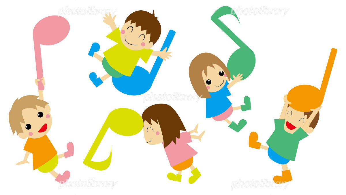 Children play with note イラスト素材