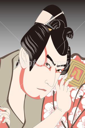歌舞妓堂艶鏡 三代目市川八百蔵の梅王丸のイラスト イラスト素材 フォトライブラリー Photolibrary