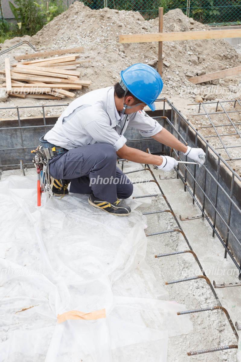 Foundation work construction Photo