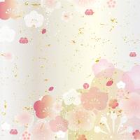 Peach flowers Japanese Pattern [2931827] Peach