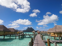 Tahiti Bora Bora water cottage Stock photo [2937526] Tahiti