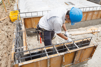 Foundation work construction Stock photo [2938345] Person