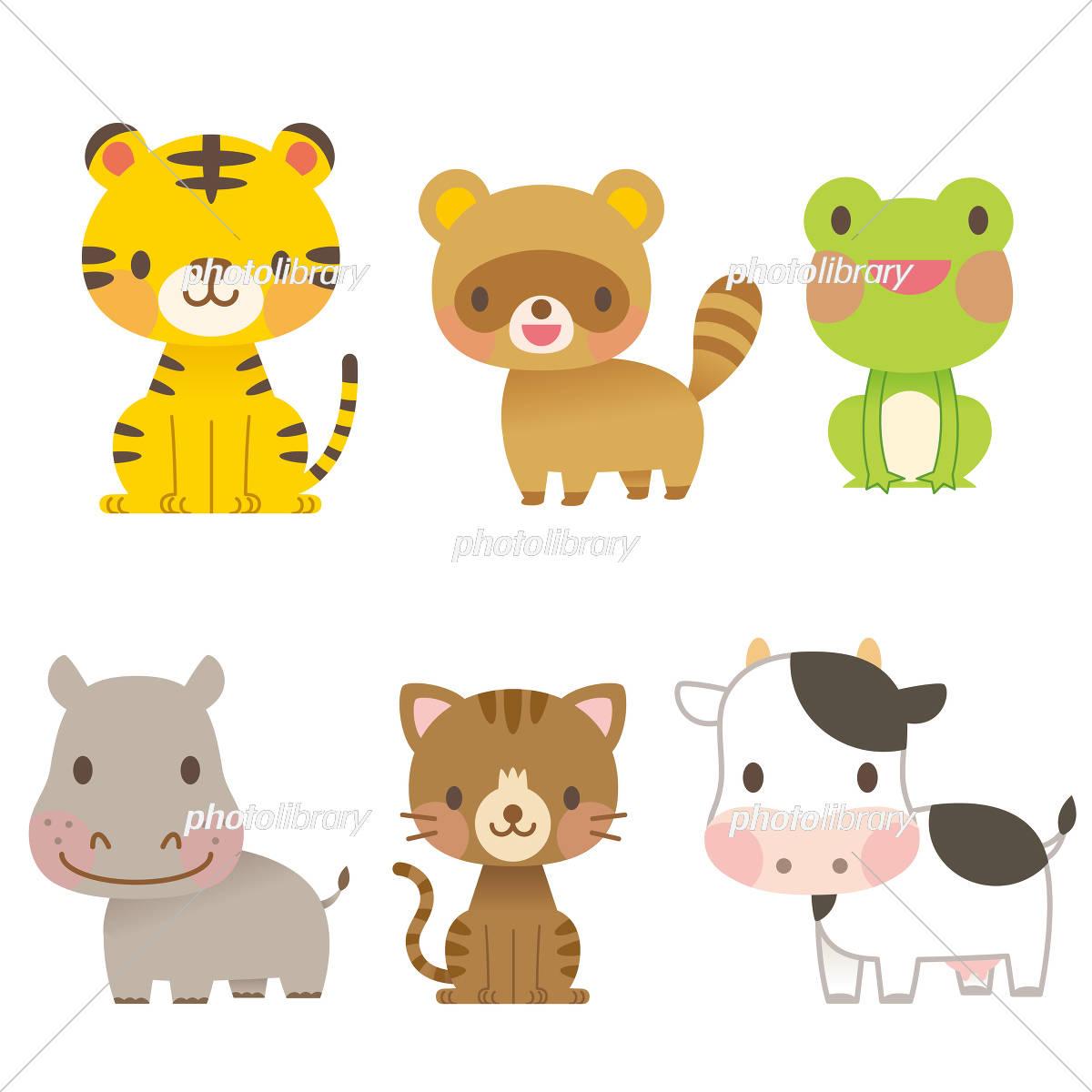 かわいい動物イラスト セット イラスト素材 3008838 フォトライブ