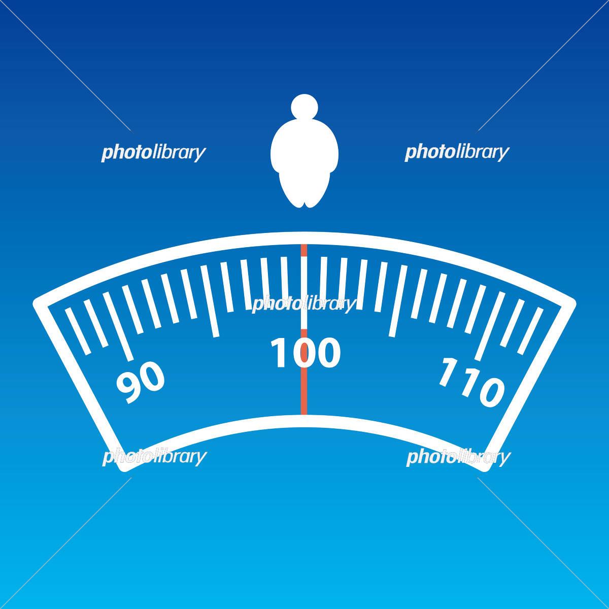 体重計と太った人のマーク イラスト素材 3025779 フォトライブ