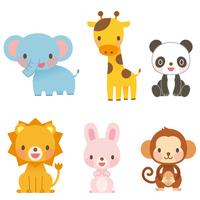 Animal illustrations set stock photo