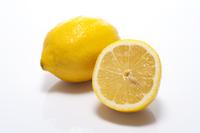 Lemon sliced white background Stock photo [3024404] Lemon