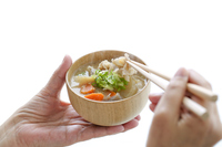 Miso soup with pork and vegetables Stock photo [3027031] Miso
