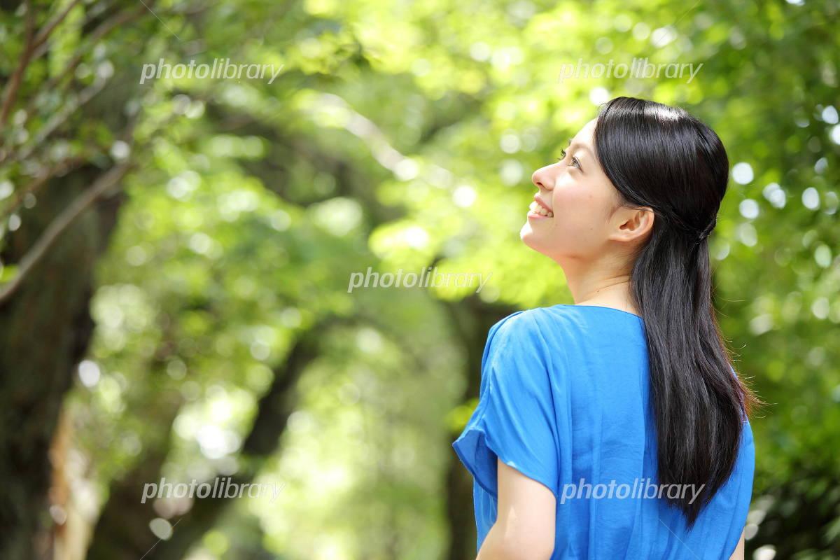 Woman fresh green Photo