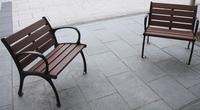 歩道のベンチ