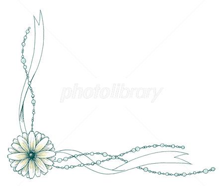 ウェディングボード テンプレート 花とリボン イラスト素材 3209245