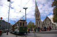 Tram and Cathedral of Christchurch Stock photo [3199409] Cathedral