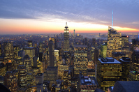 New York night view (from Top of the Rock) Stock photo [3204817] Empire