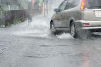 Way to flooding in guerrilla heavy rain Stock photo [3209941] Guerrilla