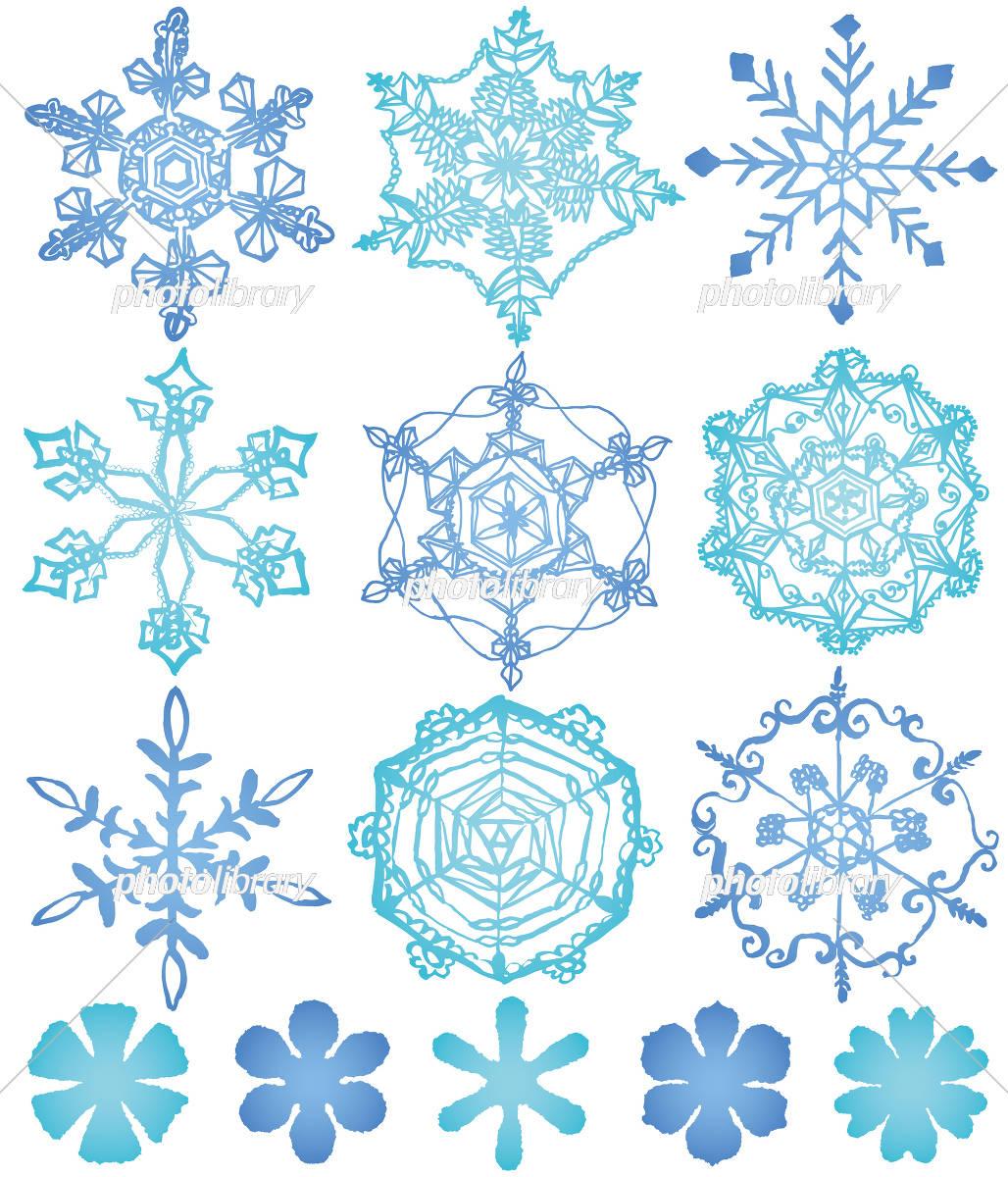 雪の結晶 手描き イラスト素材 3309173 フォトライブラリー