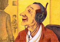 音楽を聴くご隠居