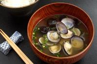 Freshwater clam juice miso soup shellfish dishes Stock photo [3304742] Freshwater