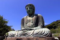 Kamakura Great Buddha stock photo