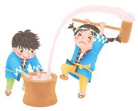 Mochi pounding [3307517] Mochi