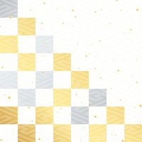Gold and silver checkered Washi [3314259] New