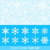 Snowflake icon material [3397733] Snow