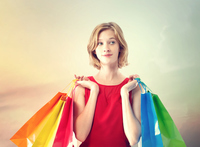 Women with shopping bags Stock photo [3406514] Female
