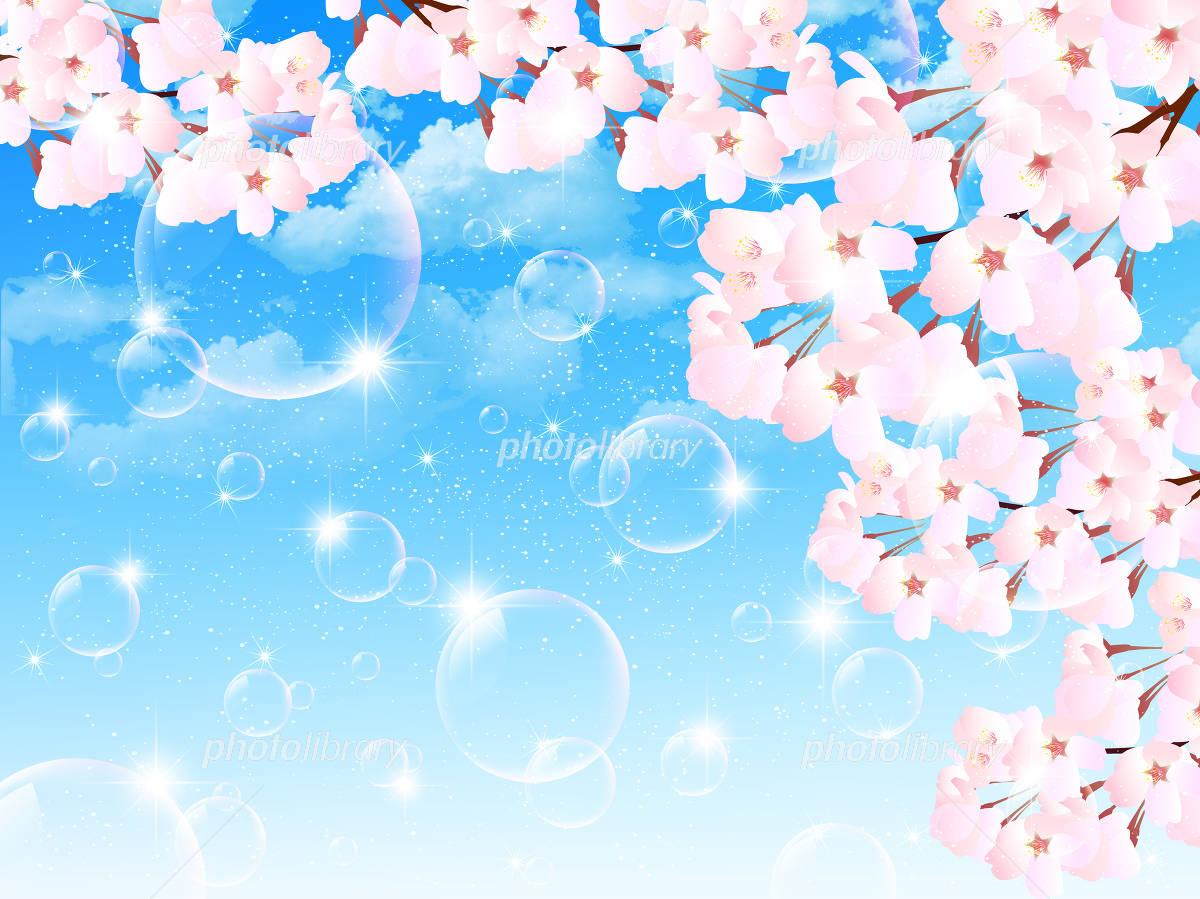 桜 空 背景 イラスト素材 3495853 フォトライブラリー Photolibrary