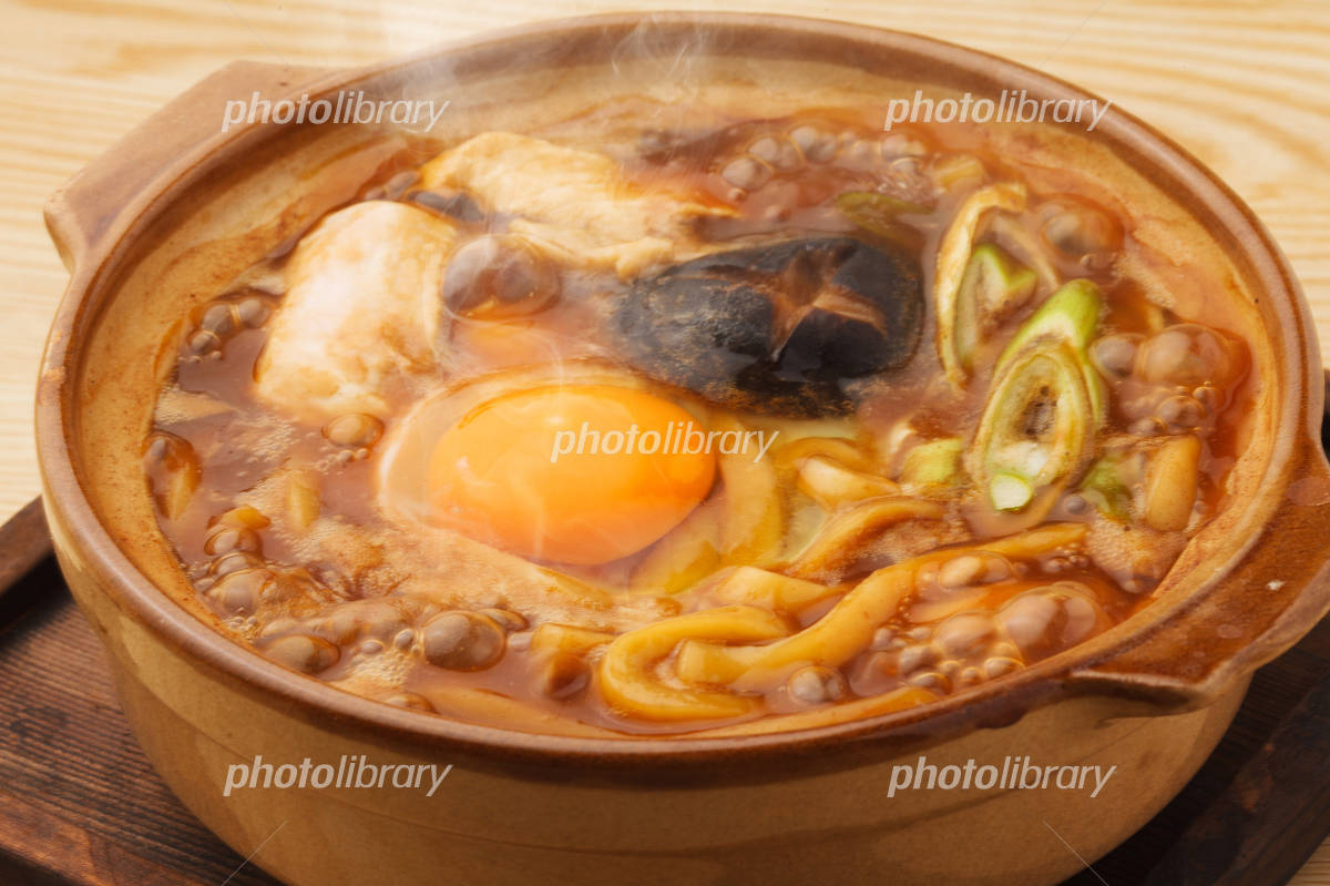 Miso noodle stew Photo