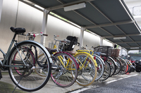 Bicycle parking lot Stock photo [3494379] Bicycle