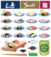 Sushi icon stock photo