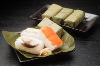 Persimmon leaf sushi Persimmon