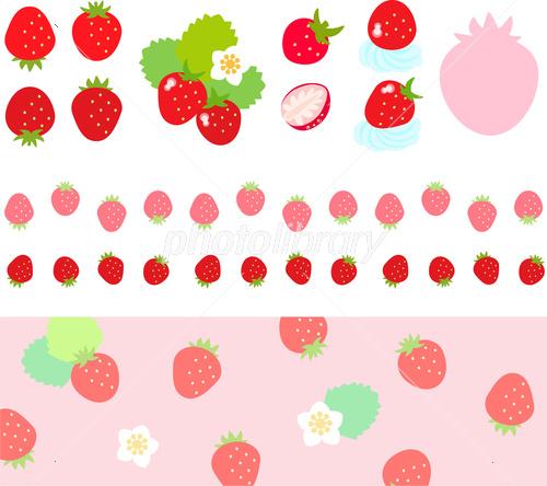 かわいい苺の素材 イラスト素材 フォトライブラリー Photolibrary