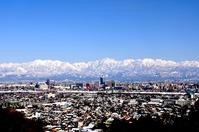 Winter of Toyama city and Tateyama mountain range Stock photo [3610640] Tateyama