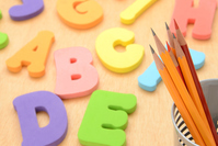 School education image - Alphabet Toys and pencil Stock photo [3715098] Pencil