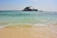 パヤ島沖のポンツーン