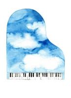 Sky blue piano [3828673] Piano